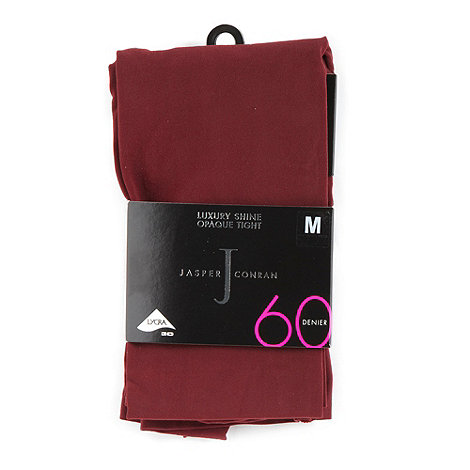 J by Jasper Conran - Maroon 60D supersoft opaque tights