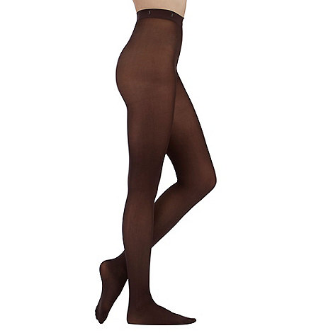 J by Jasper Conran - Chocolate 60D supersoft opaque tights