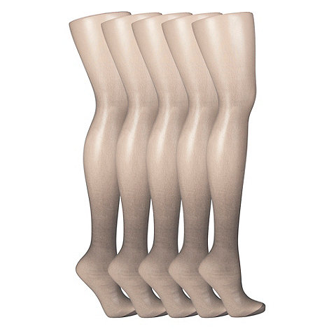 Debenhams - Pack of five metallic 15D sheer tights