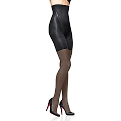 Spanx - Black 'Super Shaping' sheer high waisted tights