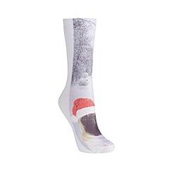 Totes - Grey pug scene socks