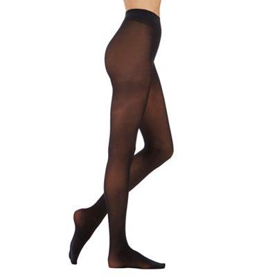 Aristoc Black 30 denier opaque tights - M/L. -