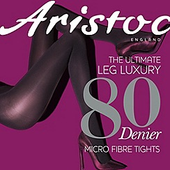 Aristoc - Dark red 80 denier opaque tights