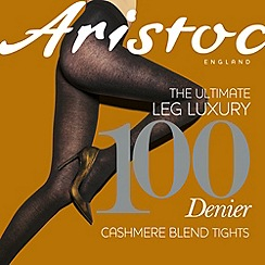 Aristoc - Grey 100 denier cashmere blend tights