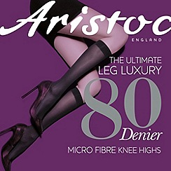 Aristoc - Black 80 denier knee high hold ups