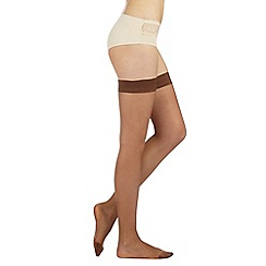 Debenhams - Pack of two bronze 10 Denier matte look hold ups