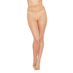 Debenhams - Light cream 15 Denier smoothing appearance nude look tights