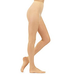 Debenhams - Cream 10 denier matte sheer tights