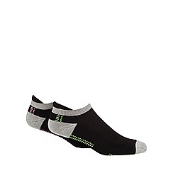 The Collection - Pack of 2 black arch support trainer socks