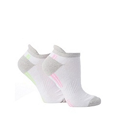 Debenhams - Pack of two white arch support trainer socks