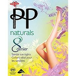 Pretty Polly - Cream 8 Denier sandal toe tights