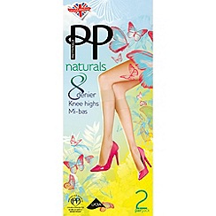 Pretty Polly - Light tan 8 Denier knee high tights