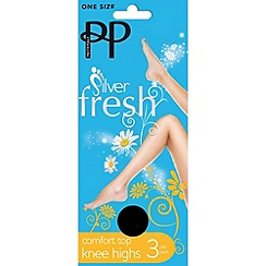 Pretty Polly - Pack of three black comfort top knee highs