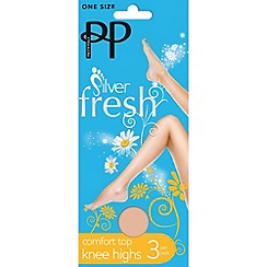 Pretty Polly - Pack of three nude comfort top knee highs