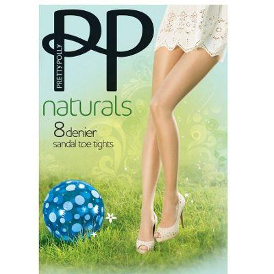 Dark cream 8D sheer Perfectly Natural sandal toe tights