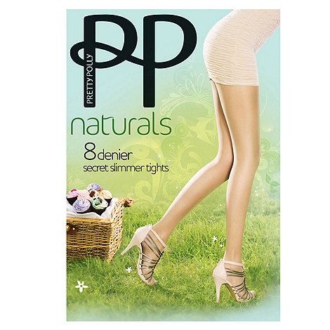 Pretty Polly - 8d sheer +Perfectly Natural+ cooling finish secret slimmer tights
