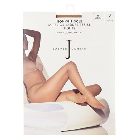 J by Jasper Conran - Light cream 7D sheer ladder resistant cooling finish grip sole tights