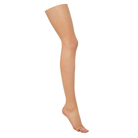 J by Jasper Conran - Natural 7D open toed tights
