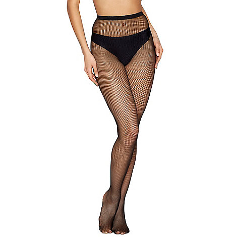 J by Jasper Conran - Black sheer micronet tights