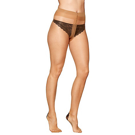 J by Jasper Conran - Natural 15 denier sheer backseam tights