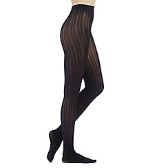 Debenhams - Black striped opaque tights
