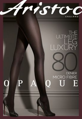 Black 80D luxury opaque tights