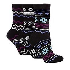 Jennifer Anderton - Pack of three black thermal socks