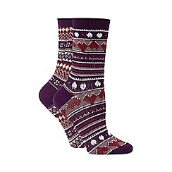 Jennifer Anderton - Purple knitted socks