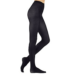 Debenhams - Pack of two navy 60 Denier opaque tights