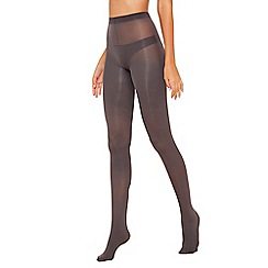 Debenhams - Pack of 2 grey 60 denier opaque tights