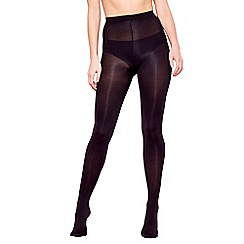 Debenhams - Pack of two black opaque tights