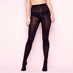 Debenhams - Pack of 2 black 80 denier opaque tights