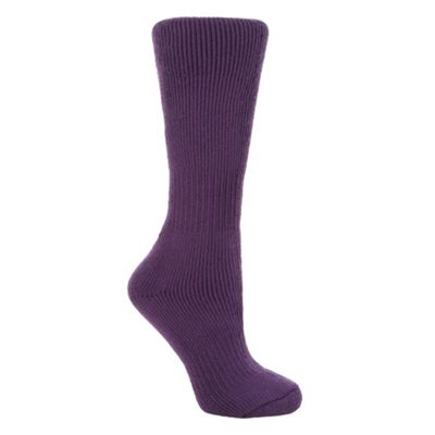 Purple knee length thermal socks