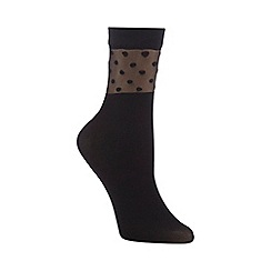 J by Jasper Conran - Pack of two black fashion socks