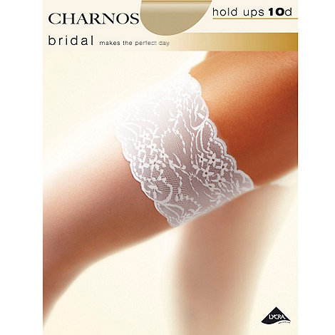 Charnos - Bridal 10d sheer lace top hold ups