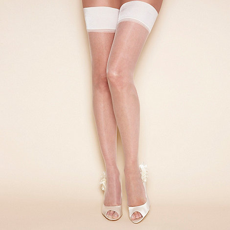 Charnos - Bridal 10d sheer smooth top hold ups