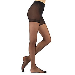 Debenhams - Pack of two black 15D sheer light control invisible shaping tights
