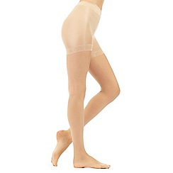 Debenhams - Pack of two cream 15 Denier sheer shaping tights
