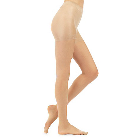 Debenhams - Pack of two natural 15D sheer light control invisible shaping tights
