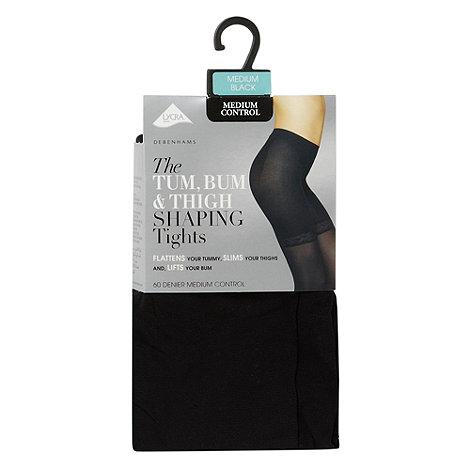 Debenhams - Black 60D medium control invisible shaping tights