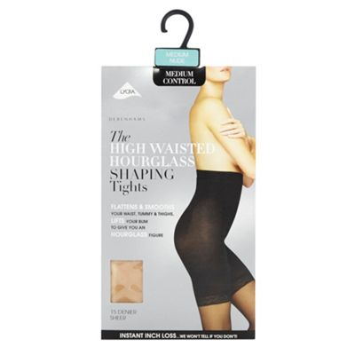 Light cream high waisted shaping tights
