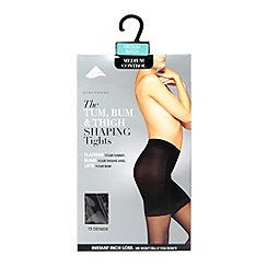 Debenhams - Black 15D sheer medium control invisible shaping tights