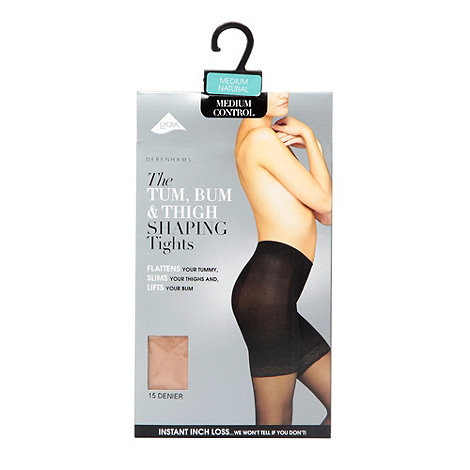 Debenhams - Natural 15D sheer medium control invisible shaping tights