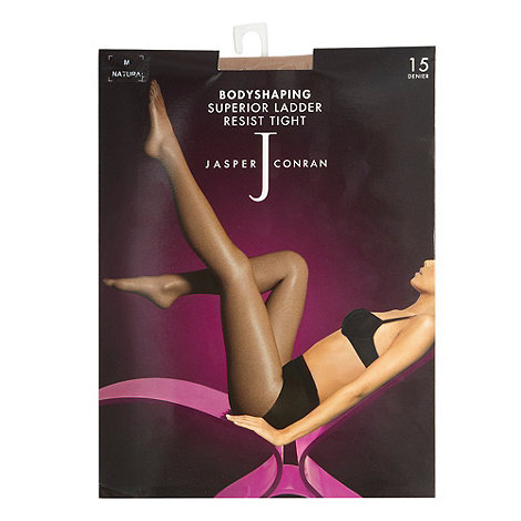 J by Jasper Conran - Natural 15D sheer ladder resistant body shaping tights