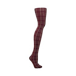 Debenhams - Purple tartan tights