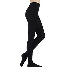 Debenhams - Black opaque thermal tights