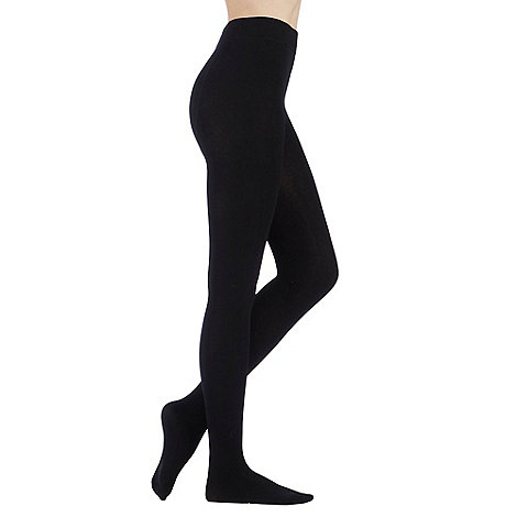 Debenhams - Black opaque soft and smooth thermal tights