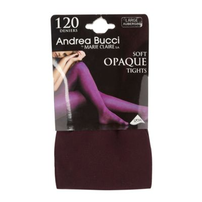 Dark purple 120 denier opaque tights
