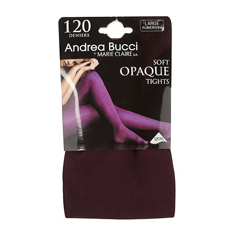 Andrea Bucci - Dark purple 120D opaque tights