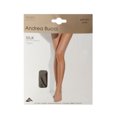 Black 10 Denier sheer silk sheen effect tights